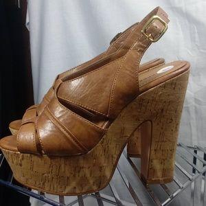 Express cork chunky sandals